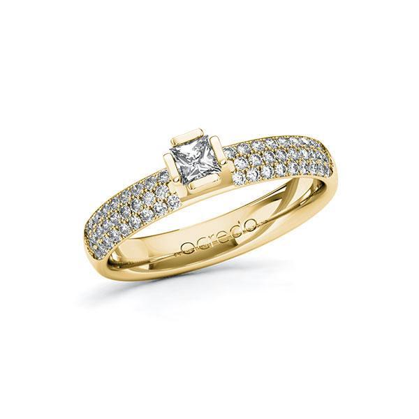 Verlobungsring in Gelbgold 585 mit zus. 0,632 ct. Prinzess-Diamant tw, si von acredo - A-10G4ZN-GG5-1R7VYEZ