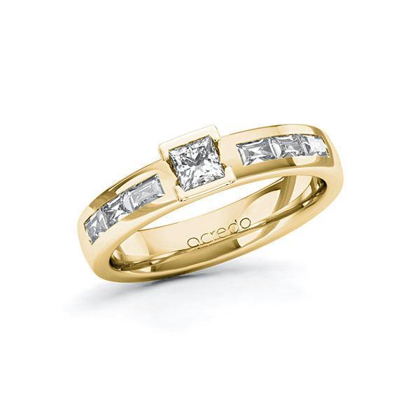 Verlobungsring in Gelbgold 585 mit zus. 0,73 ct. Prinzess-Diamant tw, si tw, vs von acredo - A-10G3HE-GG5-1RT5GHZ