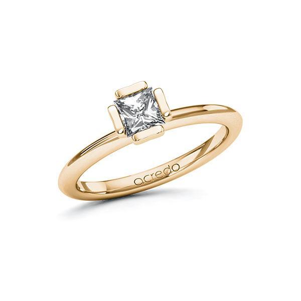 Verlobungsring in Roségold 585 mit 0,5 ct. Prinzess-Diamant tw, vs von acredo - A-10GCBL-EE5-1QLNLHZ