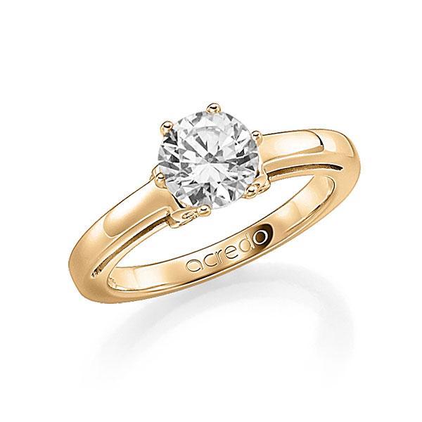 Verlobungsring in Roségold 585 mit 0,7 ct. 12 St. zusammen 0,06ct. Brillant tw, si von acredo - A-FA0BW-E5-1R84C5Z