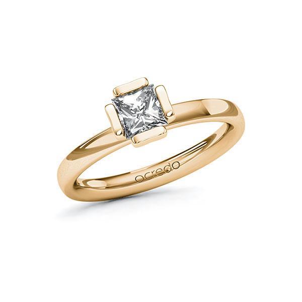 Verlobungsring in Roségold 585 mit 0,7 ct. Prinzess-Diamant tw, vs von acredo - A-10G5BB-EE5-1R46SXZ