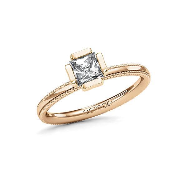 Verlobungsring in Roségold 585 mit 0,7 ct. Prinzess-Diamant tw, vs von acredo - A-11LVUA-EE5-1R46SXZ