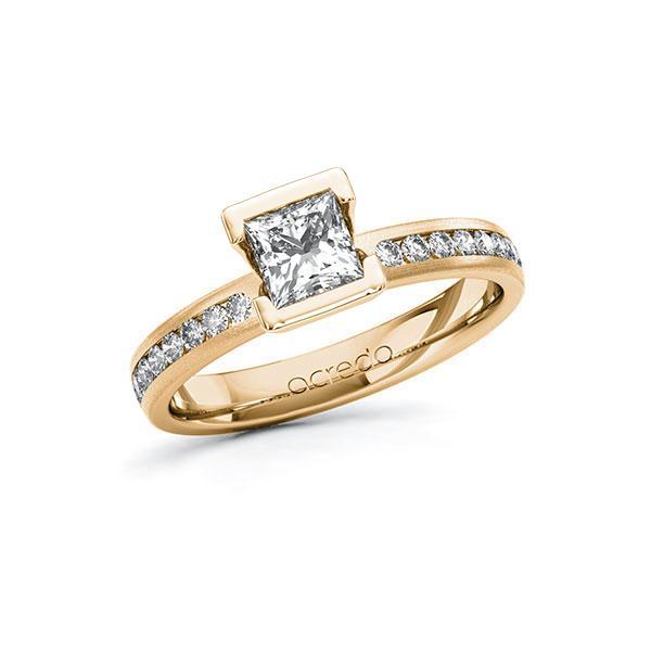 Verlobungsring in Roségold 585 mit 0,7 ct. + zus. 0,24 ct. Prinzess-Diamant tw, vs tw, si von acredo - A-10FQEY-EE5-1R9YVRZ