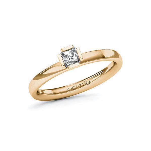 Verlobungsring in Roségold 585 mit zus. 0,25 ct. Prinzess-Diamant tw, si von acredo - A-10G5B7-EE5-1QLNDWZ