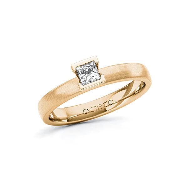 Verlobungsring in Roségold 585 mit zus. 0,25 ct. Prinzess-Diamant tw, si von acredo - A-10G5D5-EE5-1R471TZ