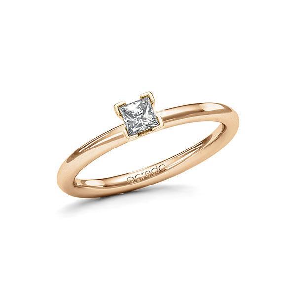 Verlobungsring in Roségold 585 mit zus. 0,25 ct. Prinzess-Diamant tw, si von acredo - A-115N3V-EE5-1QLHJVZ