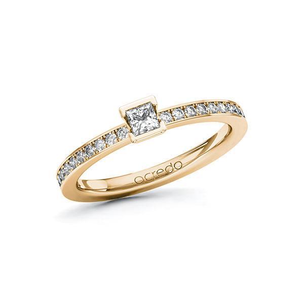 Verlobungsring in Roségold 585 mit zus. 0,35 ct. Prinzess-Diamant tw, si von acredo - A-ZYPEB-EE5-1R84RJZ