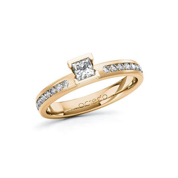 Verlobungsring in Roségold 585 mit zus. 0,49 ct. Prinzess-Diamant tw, si von acredo - A-10FQD6-EE5-1RARBJZ