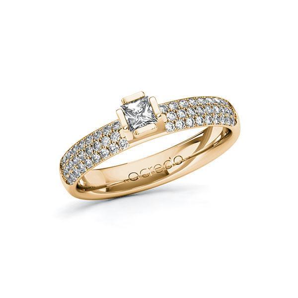 Verlobungsring in Roségold 585 mit zus. 0,632 ct. Prinzess-Diamant tw, si von acredo - A-10G4ZU-EE5-1R7VYEZ