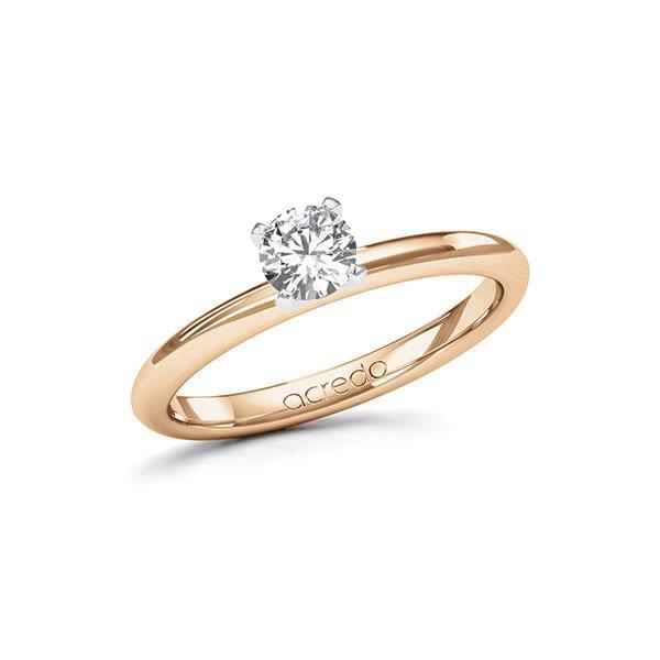 Verlobungsring in Roségold 585 Weißgold 585 mit 0,4 ct. Brillant tw, si von acredo - A-115IKQ-EW5-1RB20AZ