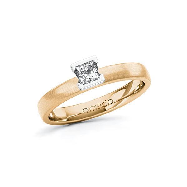 Verlobungsring in Roségold 585 Weißgold 585 mit zus. 0,25 ct. Prinzess-Diamant tw, si von acredo - A-10G5D9-EW5-1R471TZ