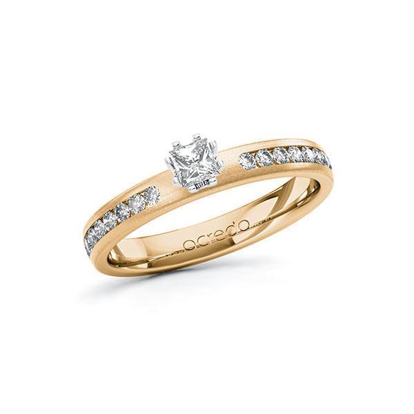 Verlobungsring in Roségold 585 Weißgold 585 mit zus. 0,44 ct. Prinzess-Diamant tw, si von acredo - A-ZZRBW-EW5-1R9Z94Z