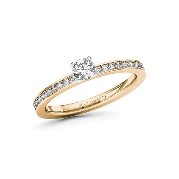 Verlobungsring in Roségold 585 Weißgold 585 mit zus. 0,45 ct. Brillant tw, si von acredo - A-ZWHYN-EW5-1R47T7Z
