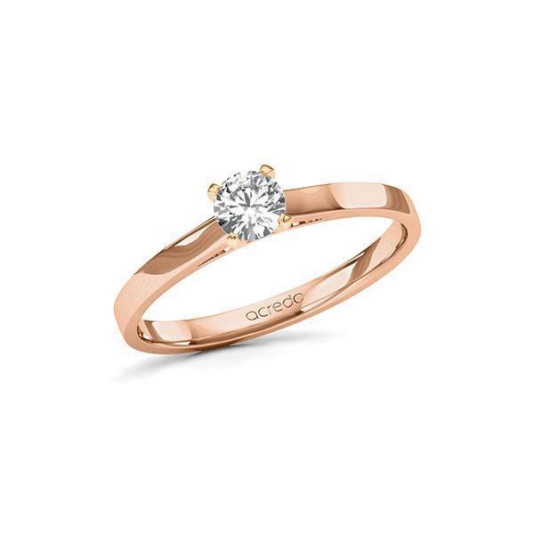Verlobungsring in Rotgold 585 mit 0,3 ct. Brillant tw, si von acredo - A-11LBYW-RR5-1TVPQ9Z