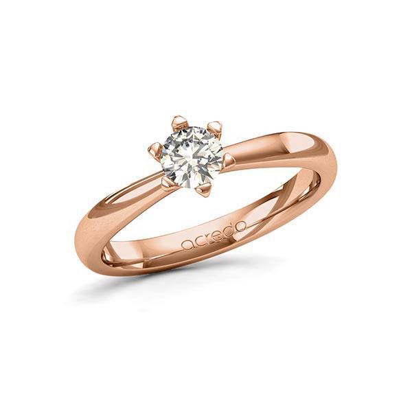 Verlobungsring in Rotgold 585 mit 0,4 ct. Brillant tw, si von acredo - A-11P9E9-R5-1R7K5FZ