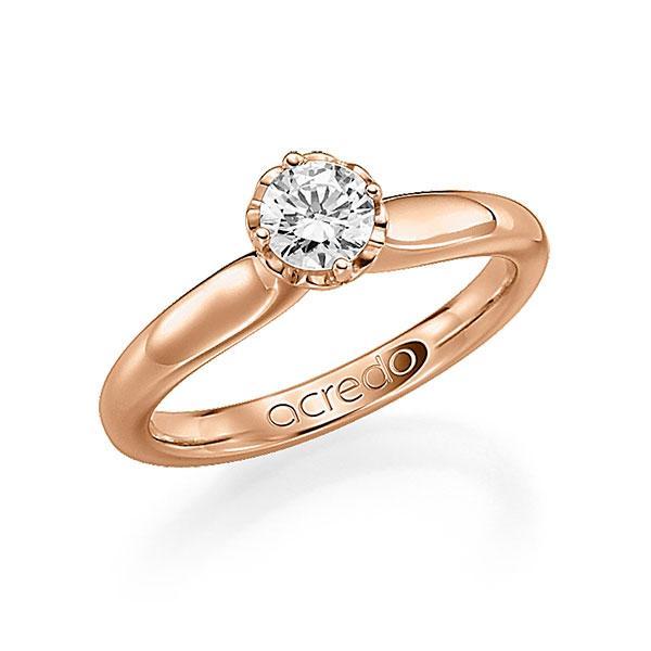 Verlobungsring in Rotgold 585 mit 0,4 ct. Brillant tw, si von acredo - A-F9T01-R5-1R7K9JZ