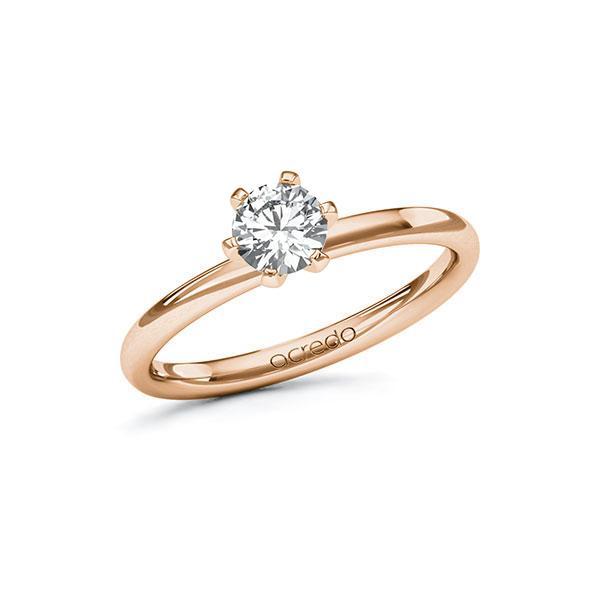 Verlobungsring in Rotgold 585 mit 0,5 ct. Brillant tw, si von acredo - A-10EF43-RR5-1R7LEEZ