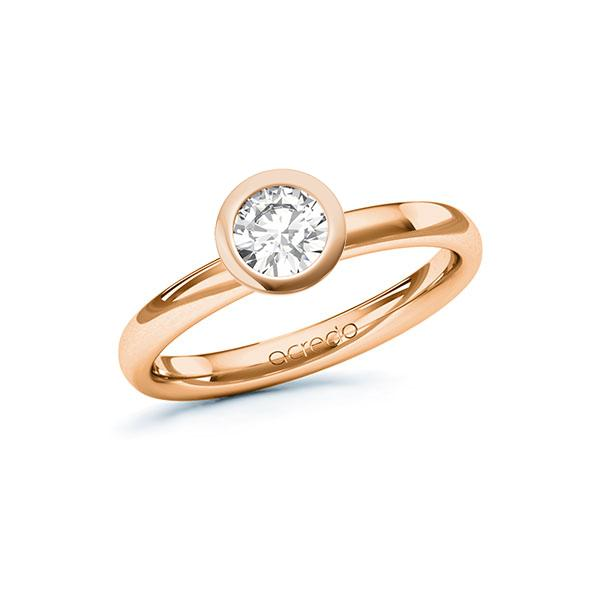 Verlobungsring in Rotgold 585 mit 0,5 ct. Brillant tw, si von acredo - A-10ENY7-RR5-1R7LELZ