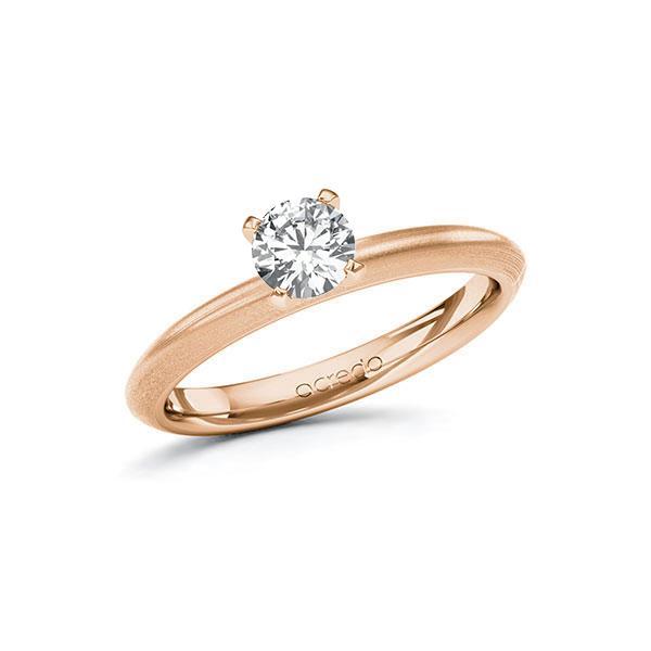 Verlobungsring in Rotgold 585 mit 0,5 ct. Brillant tw, si von acredo - A-10FHQH-RR5-1R7LF6Z