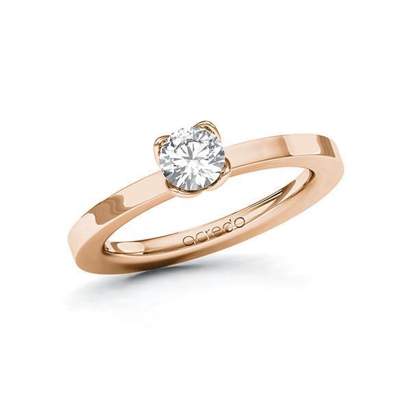 Verlobungsring in Rotgold 585 mit 0,5 ct. Brillant tw, si von acredo - A-10FKXP-RR5-1R8BIWZ