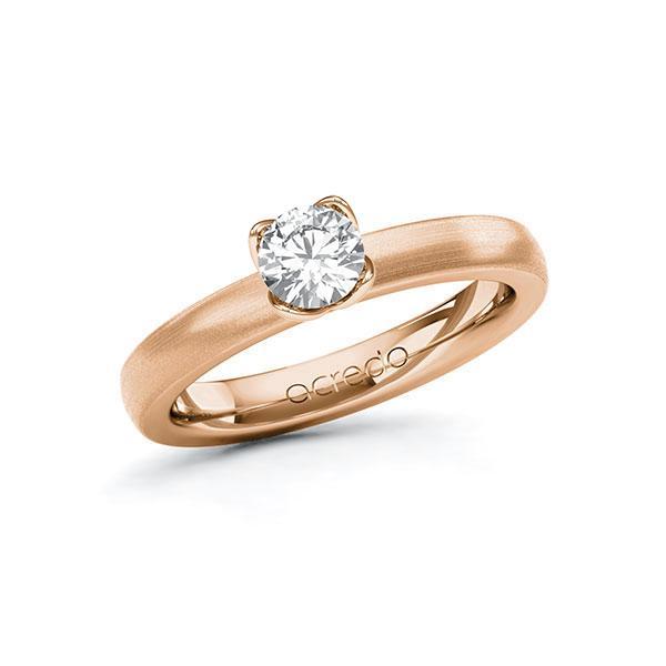 Verlobungsring in Rotgold 585 mit 0,5 ct. Brillant tw, si von acredo - A-10G2MG-RR5-1R8BIWZ