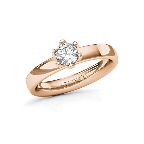 Verlobungsring in Rotgold 585 mit 0,5 ct. Brillant tw, si von acredo - A-10G36Q-RR5-1R9AQJZ