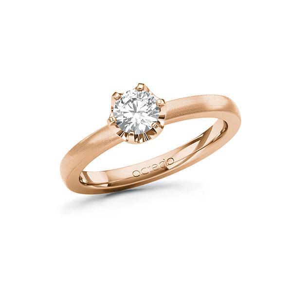 Verlobungsring in Rotgold 585 mit 0,5 ct. Brillant tw, si von acredo - A-10G58J-RR5-1R7LETZ