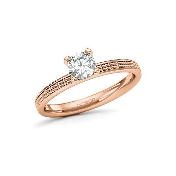 Verlobungsring in Rotgold 585 mit 0,5 ct. Brillant tw, si von acredo - A-11LVY8-RR5-1RA03MZ