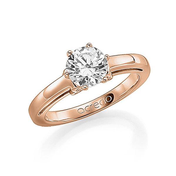 Verlobungsring in Rotgold 585 mit 0,7 ct. 12 St. zusammen 0,06ct. Brillant tw, si von acredo - A-FA0I6-R5-1R84C5Z