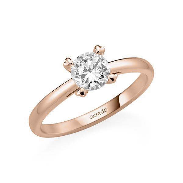 Verlobungsring in Rotgold 585 mit 0,7 ct. Brillant tw, si von acredo - A-11QGGG-R5-1R7K9LZ