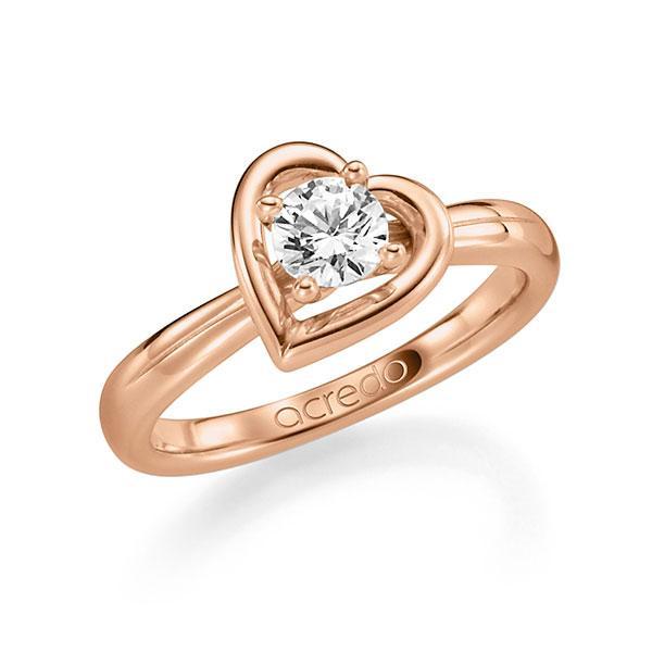 Verlobungsring in Rotgold 585 mit 0,7 ct. Brillant tw, si von acredo - A-F6AT6-R5-1R7K9LZ
