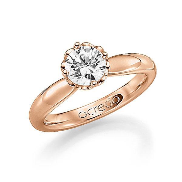 Verlobungsring in Rotgold 585 mit 0,7 ct. Brillant tw, si von acredo - A-F9T16-R5-1R7K9LZ