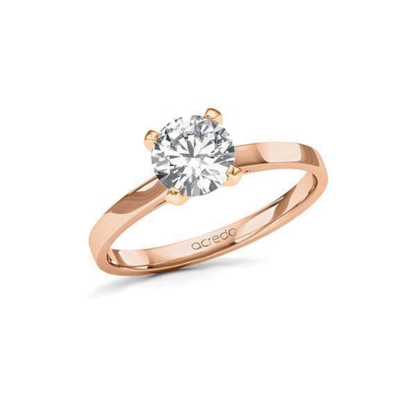 Verlobungsring in Rotgold 585 mit 1 ct. Brillant tw, si von acredo - A-11LBZ4-RR5-1TVPQDZ