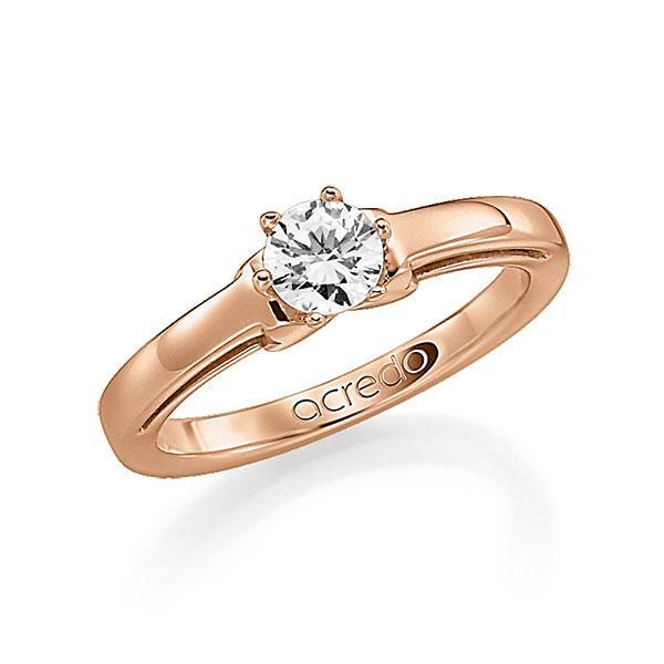 Verlobungsring in Rotgold 585 mit 1 ct. Brillant tw, si von acredo - A-F9K76-R5-1R7K5IZ