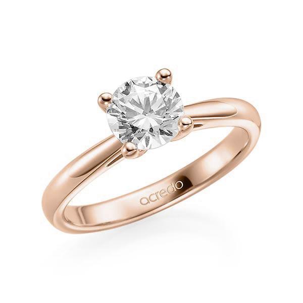 Verlobungsring in Rotgold 585 mit 1 ct. Brillant tw, vs von acredo - A-ZI8AM-R5-1IV6K6Z