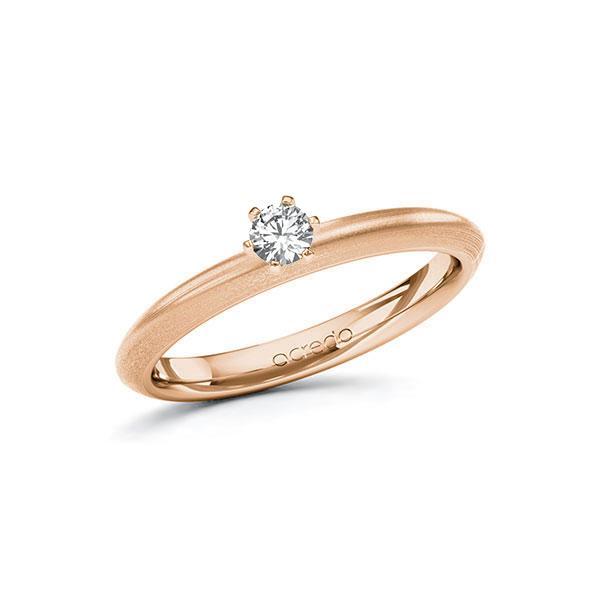 Verlobungsring in Rotgold 585 mit zus. 0,15 ct. Brillant tw, si von acredo - A-10FGXN-RR5-1R0TAEZ