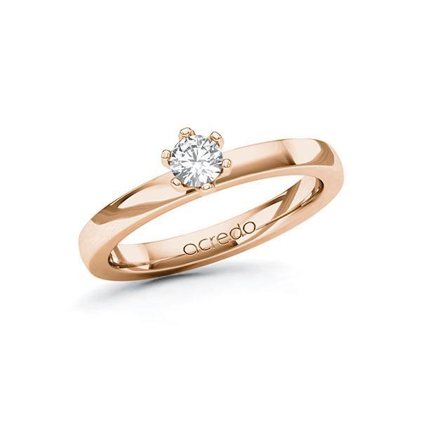 Verlobungsring in Rotgold 585 mit zus. 0,25 ct. Brillant tw, si von acredo - A-10ELXP-RR5-1R0SUJZ