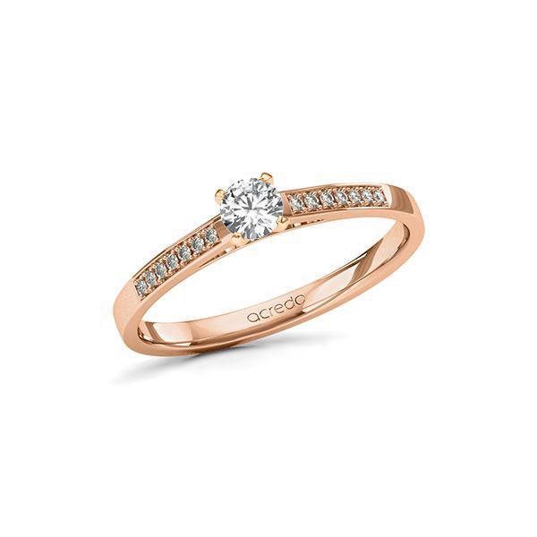 Verlobungsring in Rotgold 585 mit zus. 0,27 ct. Brillant tw, si von acredo - A-11LC39-RR5-1TVPVRZ