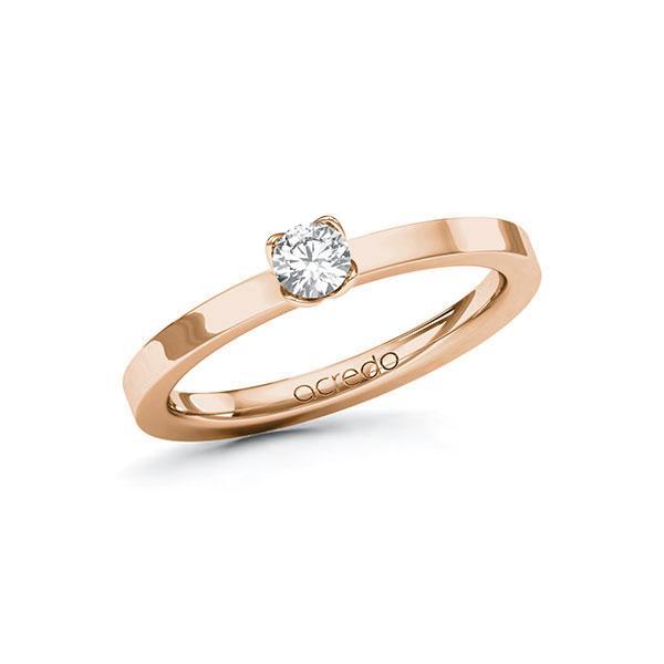 Verlobungsring in Rotgold 585 mit zus. 0,2 ct. Brillant tw, si von acredo - A-10GBWF-RR5-1PKK9YZ