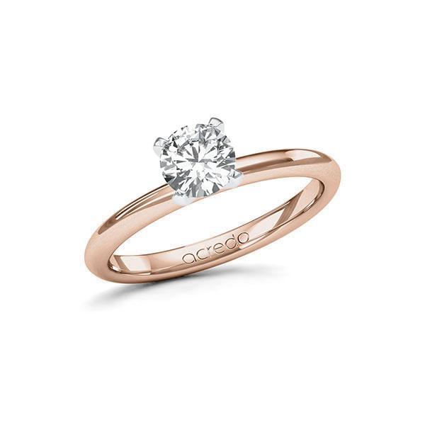 Verlobungsring in Rotgold 585 Weißgold 585 mit 0,7 ct. Brillant tw, si von acredo - A-115IM4-RW5-1R7LF7Z