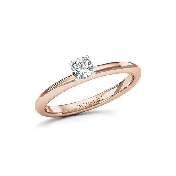 Verlobungsring in Rotgold 585 Weißgold 585 mit zus. 0,25 ct. Brillant tw, si von acredo - A-115I6L-RW5-1R0VC2Z