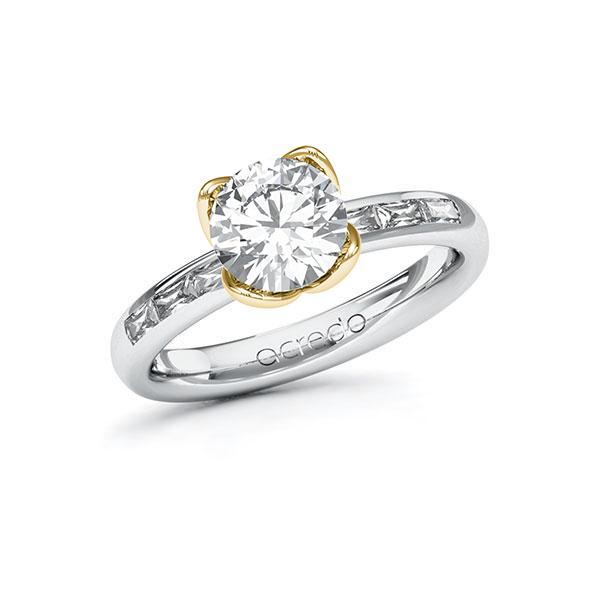 Verlobungsring in Weißgold 585 Gelbgold 585 mit 1,5 ct. + zus. 0,3 ct. Brillant tw, vs von acredo - A-ZYP0M-WG5-1RSFYXZ