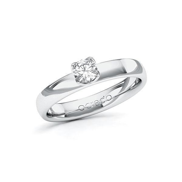 Verlobungsring in Weißgold 585 mit 0,3 ct. Brillant tw, si von acredo - A-10FUCW-WW5-1R8BIUZ