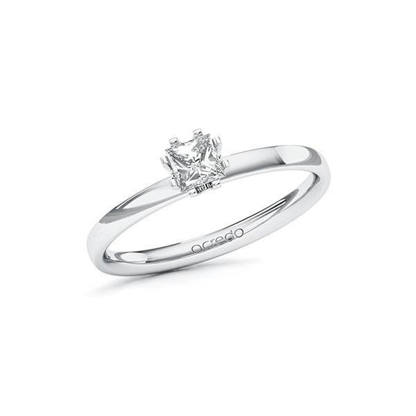 Verlobungsring in Weißgold 585 mit 0,3 ct. Prinzess-Diamant tw, vs von acredo - A-10EPP2-WW5-10VM31Z