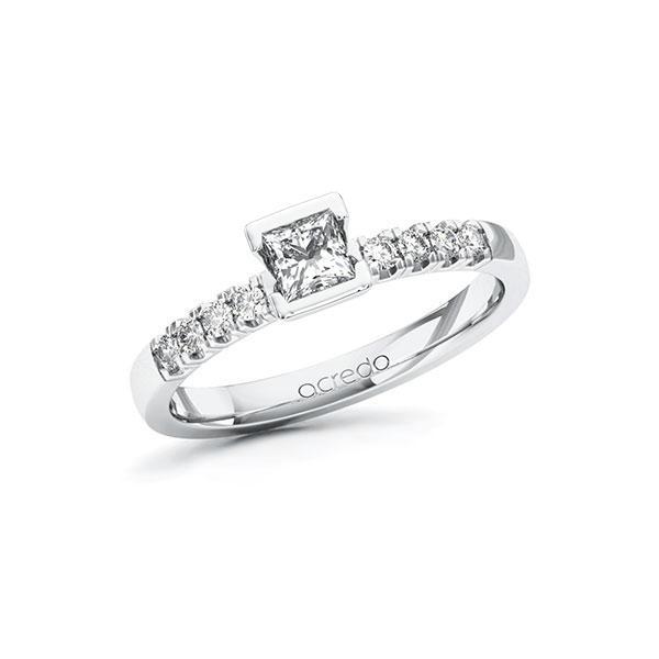 Verlobungsring in Weißgold 585 mit 0,3 ct. + zus. 0,16 ct. Prinzess-Diamant tw, vs tw, si von acredo - A-ZWI9B-WW5-1R48PAZ