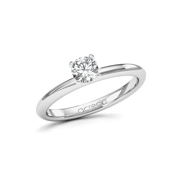 Verlobungsring in Weißgold 585 mit 0,4 ct. Brillant tw, si von acredo - A-115IKZ-WW5-1RB20AZ