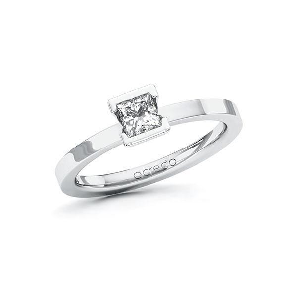 Verlobungsring in Weißgold 585 mit 0,4 ct. Prinzess-Diamant tw, vs von acredo - A-ZWMH5-WW5-1R46T1Z