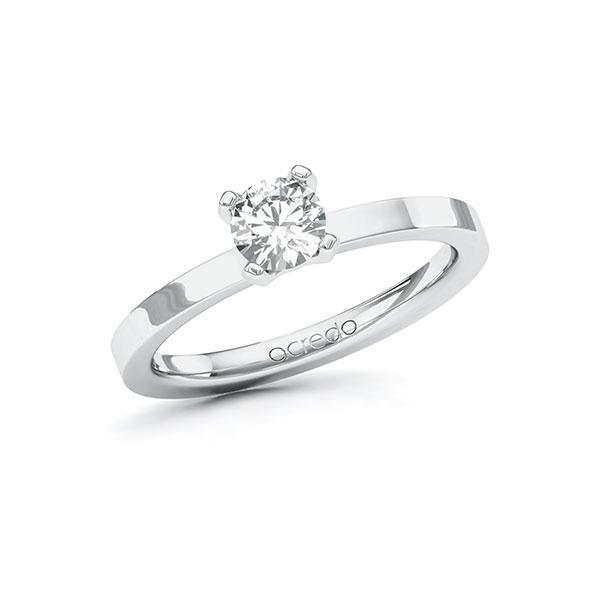 Verlobungsring in Weißgold 585 mit 0,5 ct. Brillant tw, si von acredo - A-10EYES-WW5-1RA03MZ