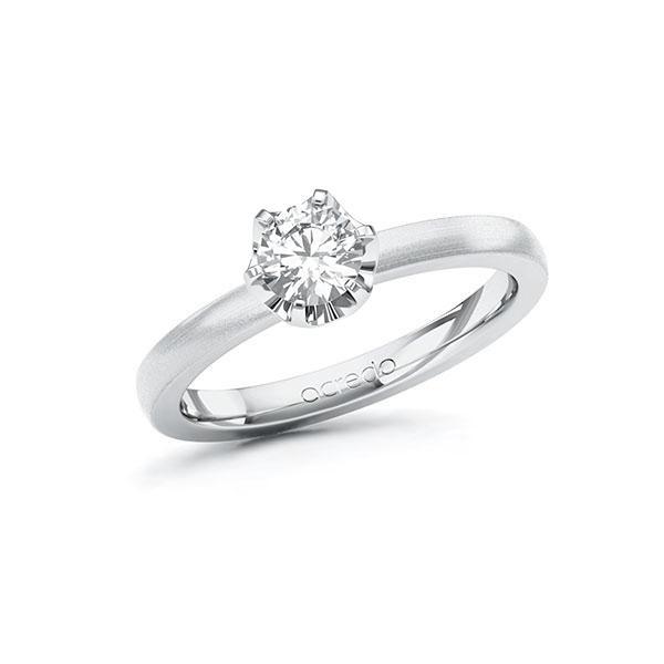 Verlobungsring in Weißgold 585 mit 0,5 ct. Brillant tw, si von acredo - A-10G58H-WW5-1R7LETZ