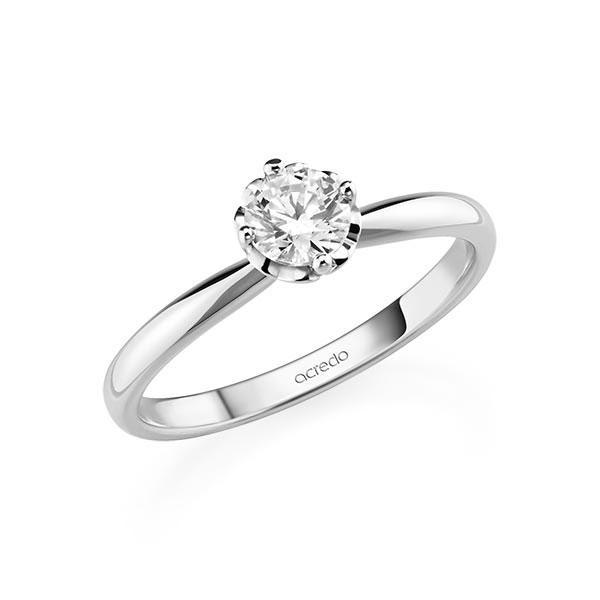 Verlobungsring in Weißgold 585 mit 0,5 ct. Brillant tw, si von acredo - A-11QCDZ-W5-1R7K9KZ